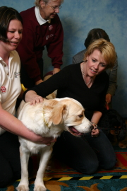Picture of Amanda with a Hearing Dog