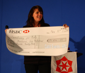Picture of Amanda with cheque