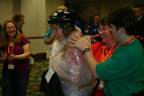 Tracy Bubble Wrapped  presented to Amanda
